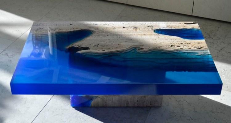 Прозрачный стол из эпоксидной смолы в Екатеринбурге - столярная мастерская Treelogia