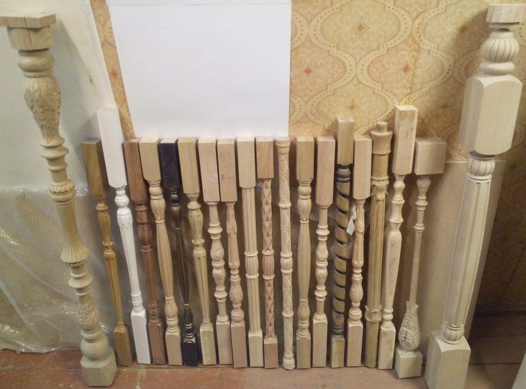 Балясины изготовленные в столярной мастерской Treelogia