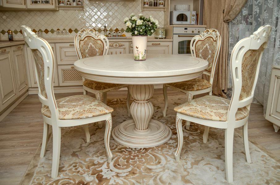 Круглый стол на кухню под заказ - столярная мастерская Treelogia