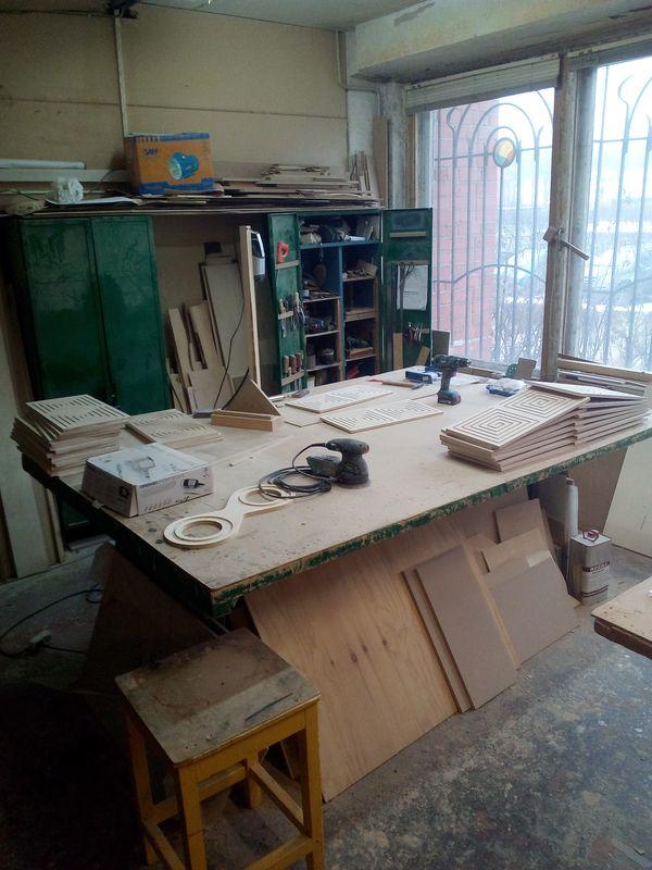 Рабочее место в столярной мастерской