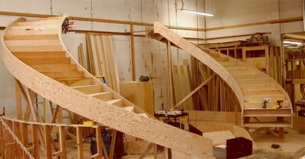 Изготовление деревянных лестниц - столярная мастерская Treelogia