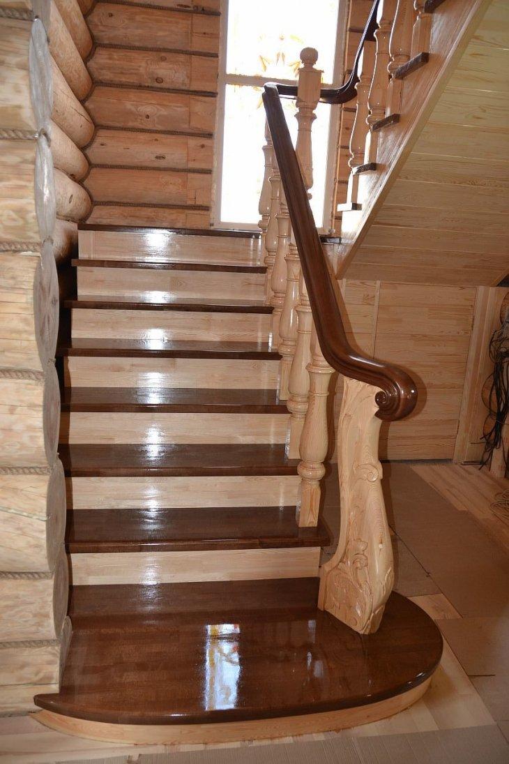 Купить межэтажную деревянную лестницу в Екатеринбурге - Treelogia