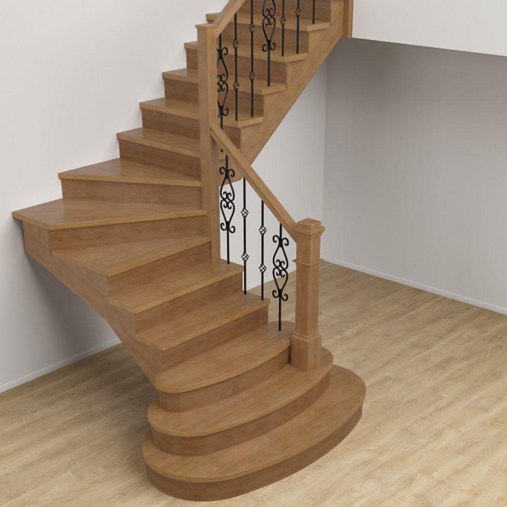 Заказать деревянную лестницу на второй этаж в Екатеринбурге - Treelogia