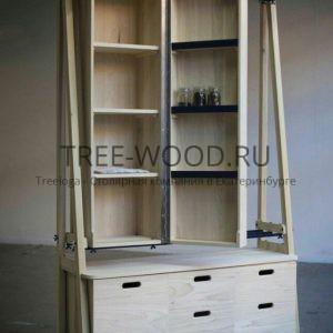 авторский гардероб изготовлен из дуба