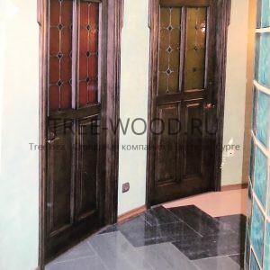 двери в стиле готика с витражами