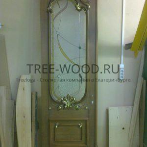 двери в стиле классики с резьбой ручной работы с сусальным золотом из бука