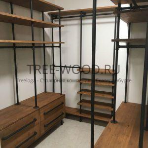 гардеробная комната из мдф покрытая шпоном дуба