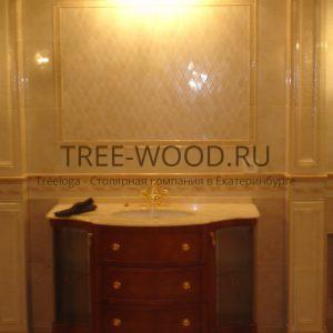 тумба под раковину - изготовлена из красного дерево