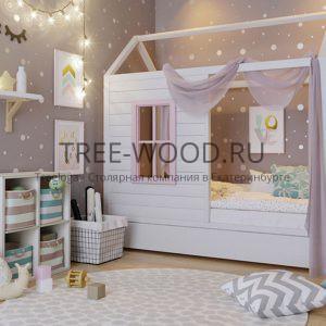 Детская кроватка домик для девочки